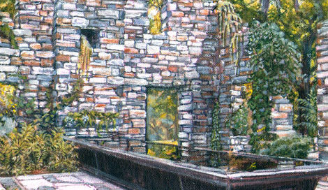 Reflecting Pool with Ruins ~ Chanticleer